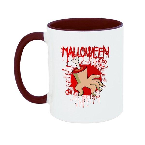 Чашка Хэлоуин Рука в крови