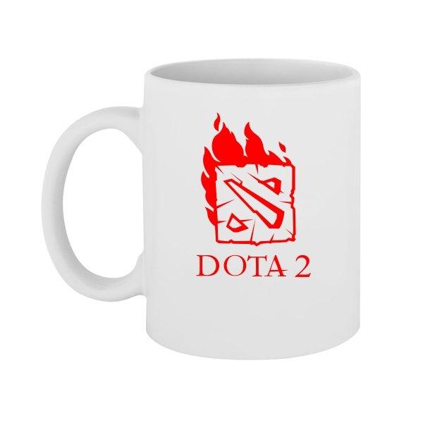Чашка Огненная Dota 2