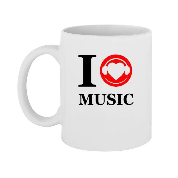 Чашка Я люблю Музыку