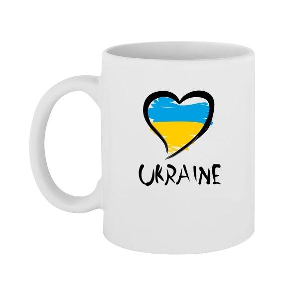 Чашка Сердце Ukraine