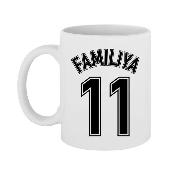 Чашка Фамилия в Футбольном стиле