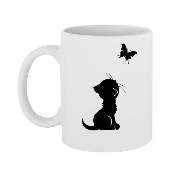 Чашка Кот и Бабочка