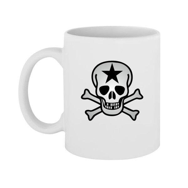 Чашка Череп со звездой