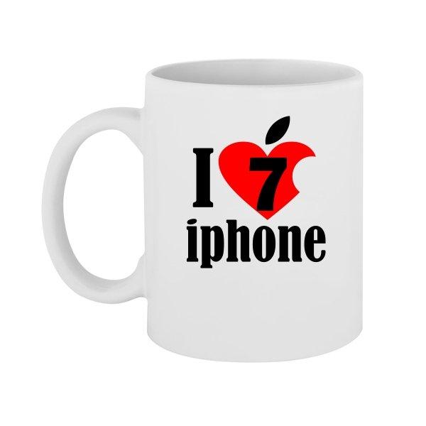 Чашка Люблю 7 Айфон