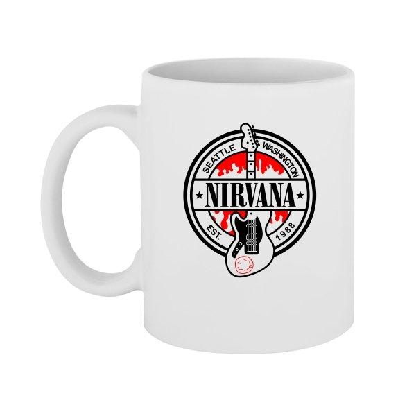 Чашка с группой Нирвана