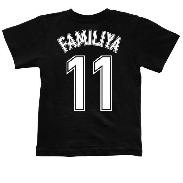Детская футболка Фамилия в Футбольном стиле