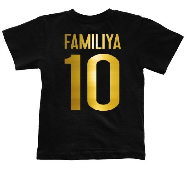 Детская футболка Глянцевая Фамилия Золото