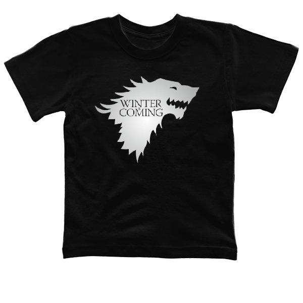 Детская футболка Надпись Зима Близко