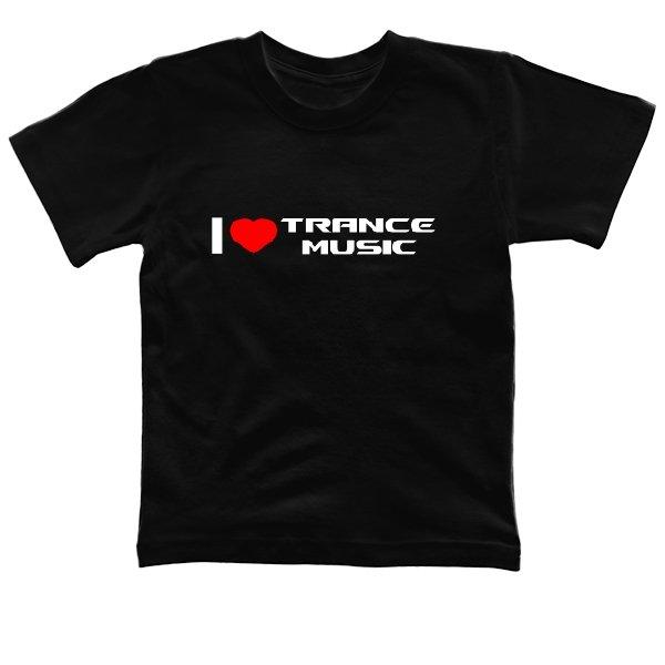 Детская футболка I Love Trance Music