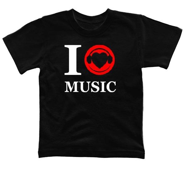 Детская футболка Я люблю Музыку