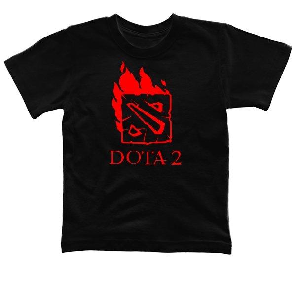 Детская футболка Огненная Dota 2