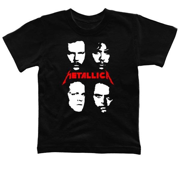 Детская футболка Metallica лица