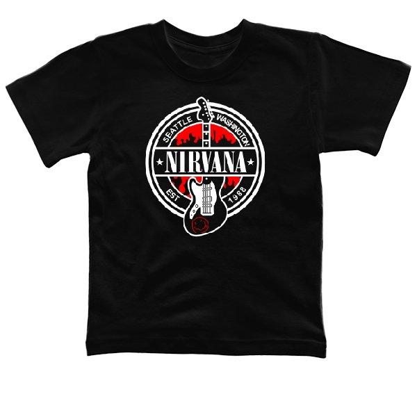 Детская футболка с группой Нирвана