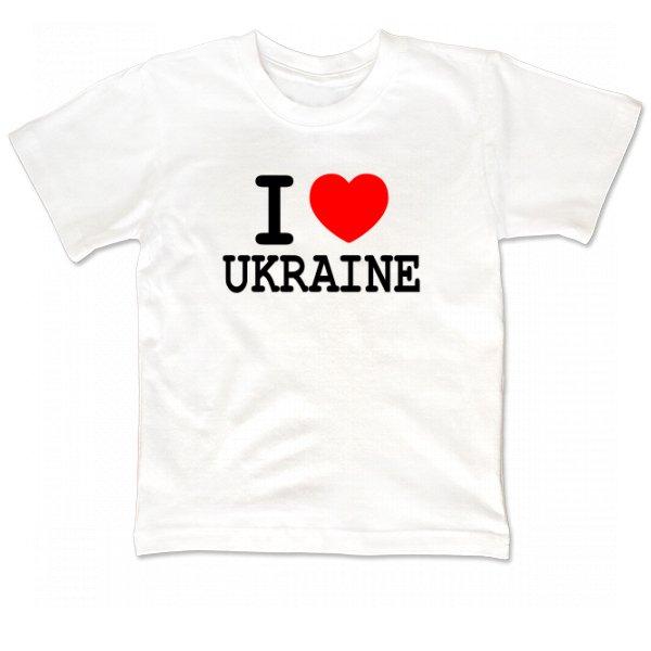 Детская футболка Я Люблю Украину