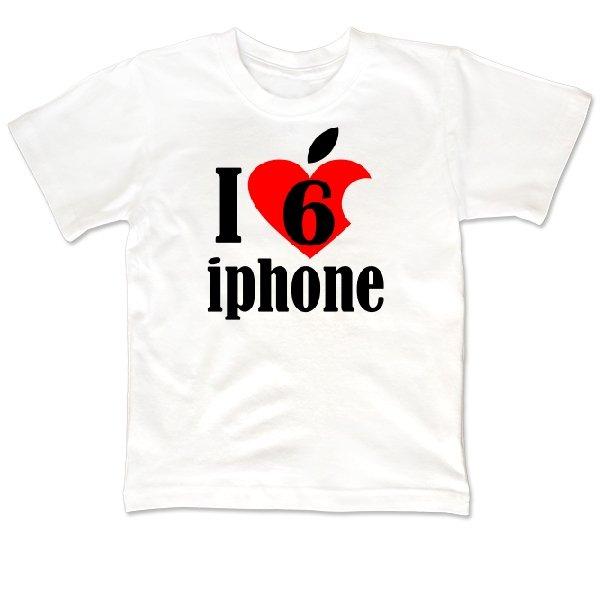 Детская футболка Люблю 6 Айфон