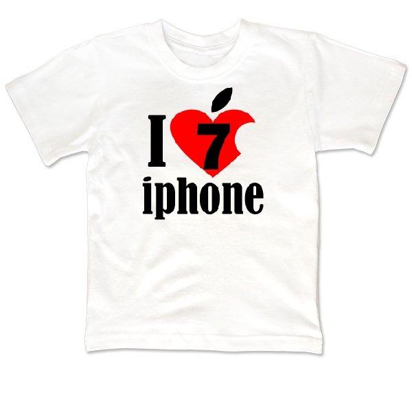 Детская футболка Люблю 7 Айфон