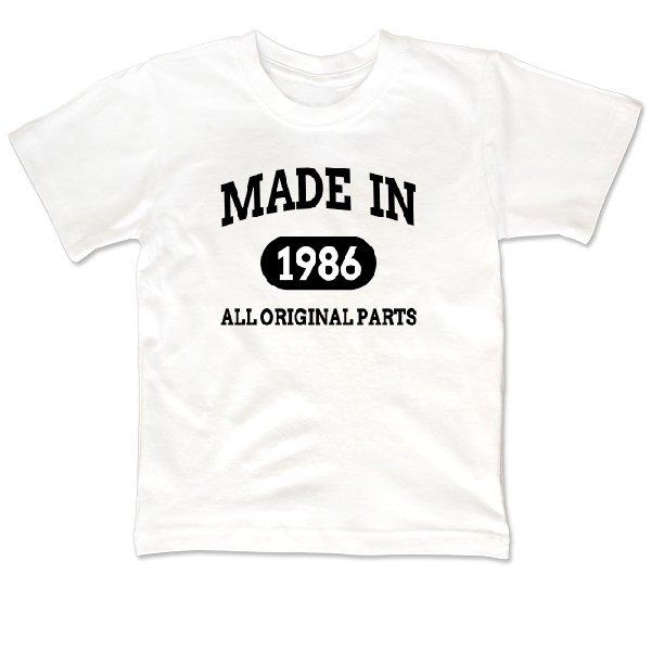 Детская футболка Оригинальный Выпуск 1986 года