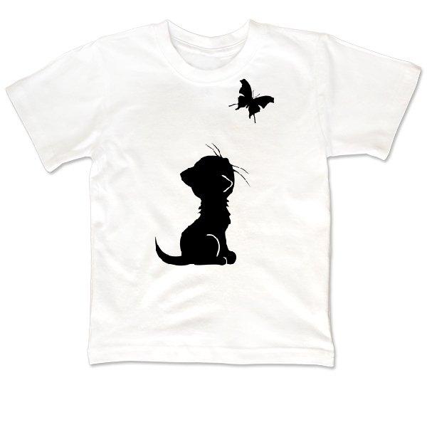 Детская футболка Кот и Бабочка