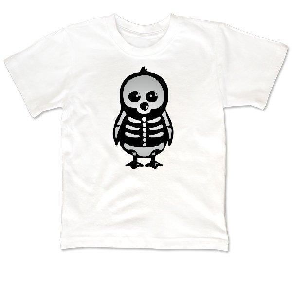 Детская футболка Скелет Пингвина