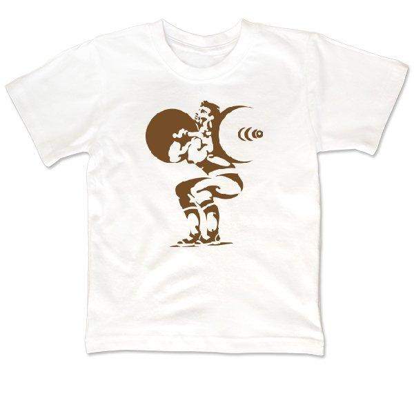 Детская футболка Подъем штанги