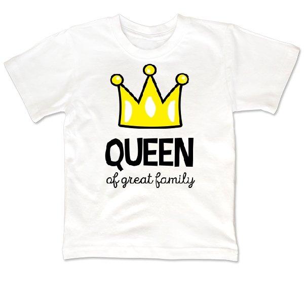 Детская футболка Королева большой семьи