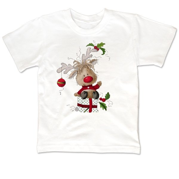 Детская футболка Новогодний олененок