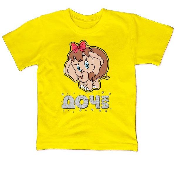 Детская футболка Дочка Мамонтенок