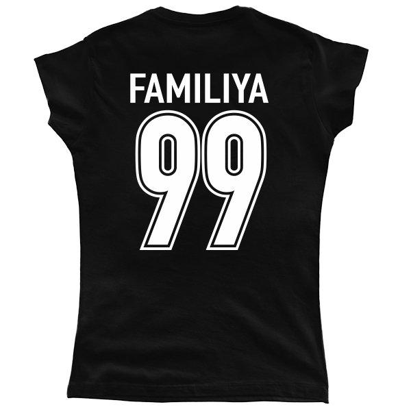Женская футболка Фамилия с Номером