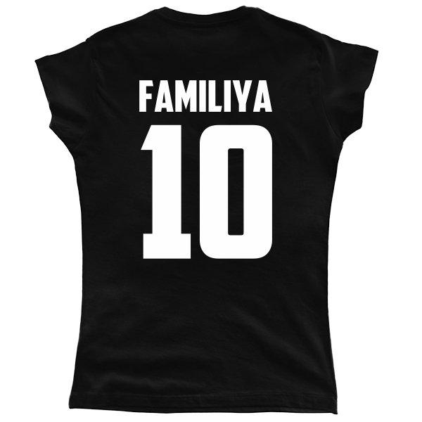 Женская футболка Фамилия и Номер