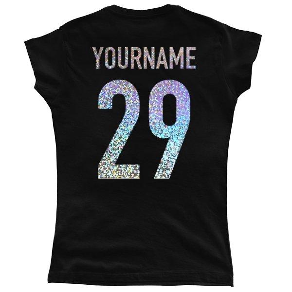 Женская футболка Имя с Номером Голограмма
