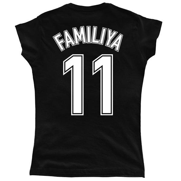 Женская футболка Фамилия в Футбольном стиле