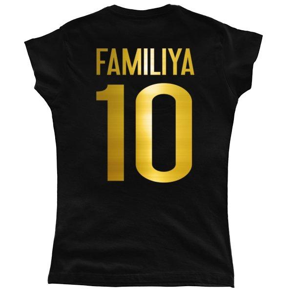 Женская футболка Глянцевая Фамилия Золото