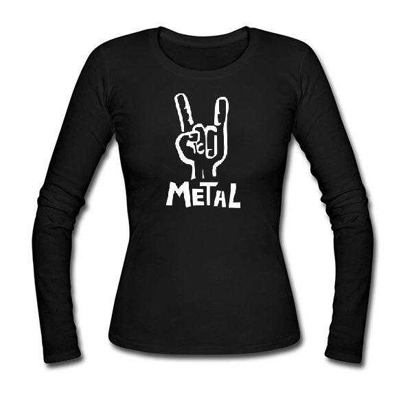 Женский лонгслив Metal