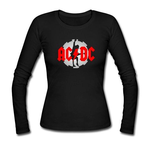 Женский лонгслив с логотипом AC DC