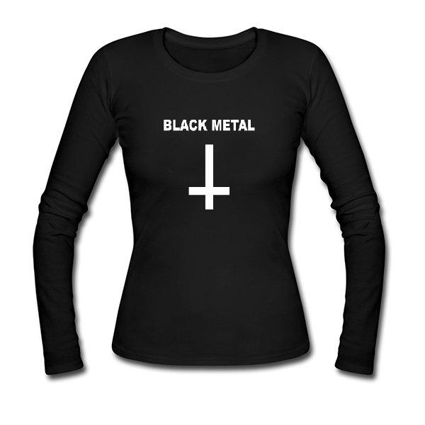 Женский лонгслив Black Metal