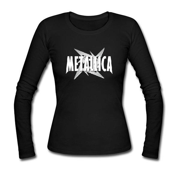 Женский лонгслив Metallica logo
