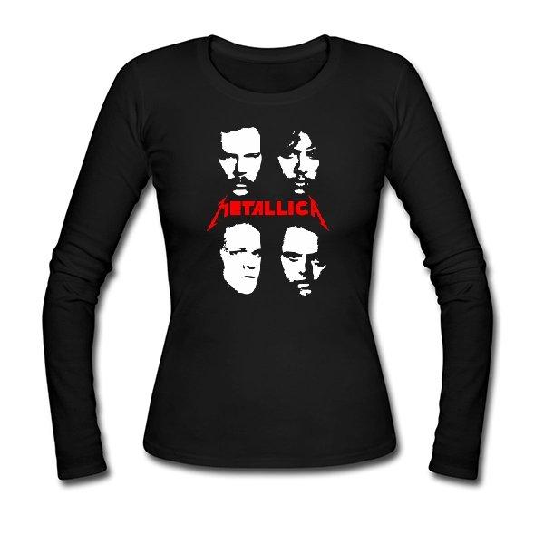 Женский лонгслив Metallica лица