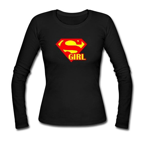 Женский лонгслив Super Girl