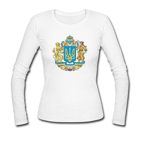Женский лонгслив Большой Герб Украины