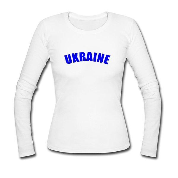 Женский лонгслив Надпись Ukraine