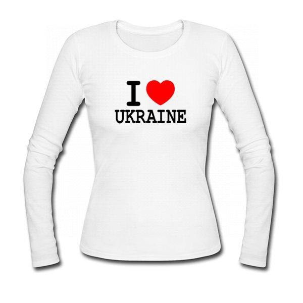 Женский лонгслив Я Люблю Украину