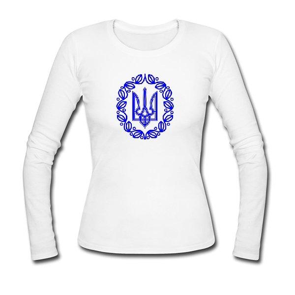 Женский лонгслив С символикой Украины