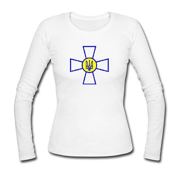 Женский лонгслив Военный Символ Украины