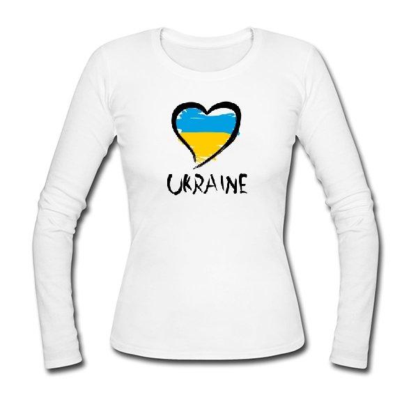 Женский лонгслив Сердце Ukraine