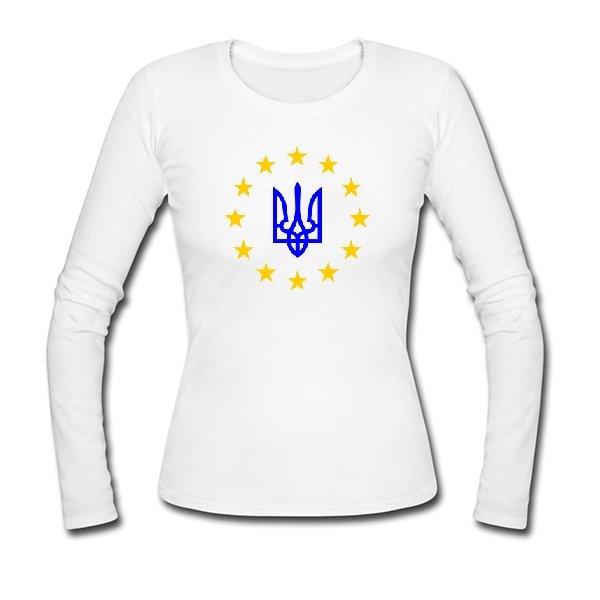 Женский лонгслив Евро Украина