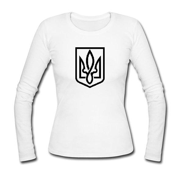 Женский лонгслив Український Тризубець