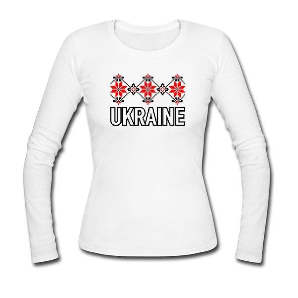 Женский лонгслив Орнамент Ukraine