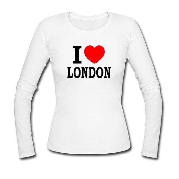 Женский лонгслив Я люблю Лондон