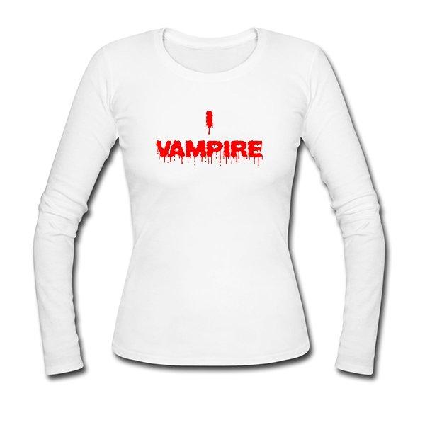 Женский лонгслив Я Вампир