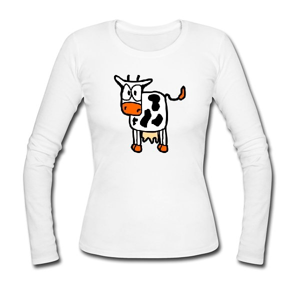 Женский лонгслив Корова